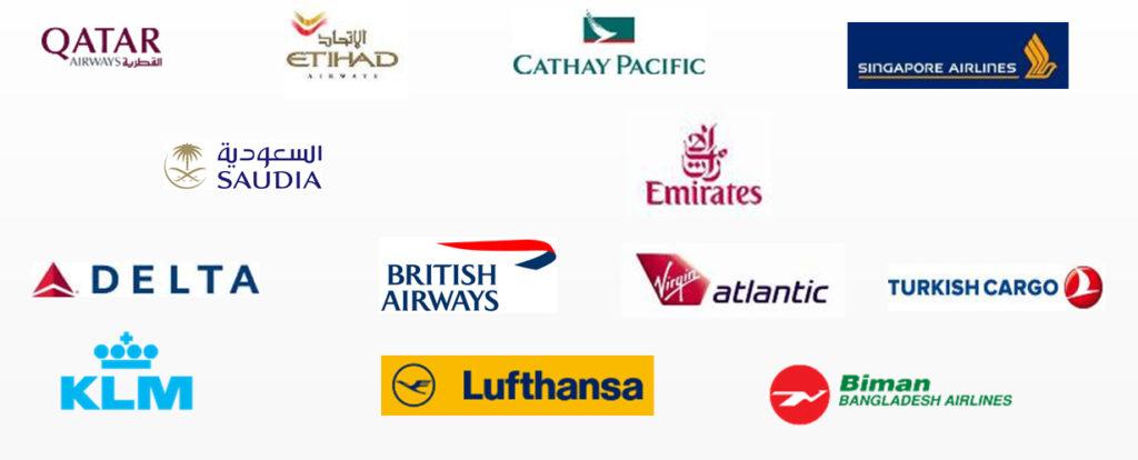APS Logistics International Airline Partners